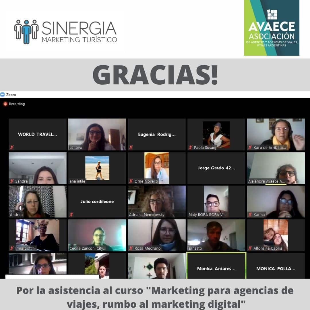 Capacitación ad honorem  en marketing digital junto a AVAECE Asociación de Agencias.